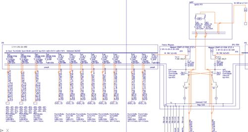 Фрагмент схемы РУ ТП