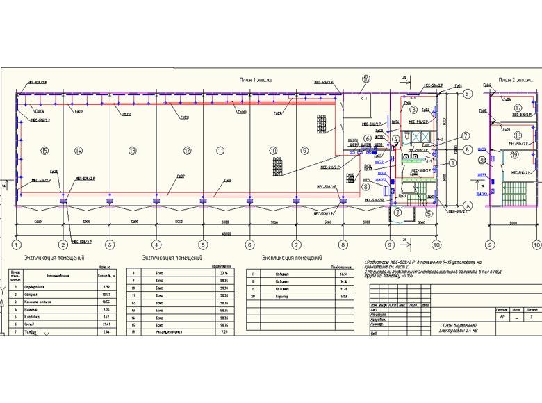 План внутренней электросети